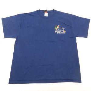 Harley Davidson Florida XL Navy Blue T Shirt Crewn